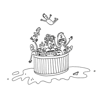 bathtub and bubbles colouring pages